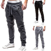 Jogging Sport Mens Skinny Gym Joggers Sweat Slim Fit Tracksuit Pants Trousers