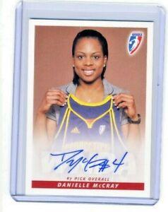 Danielle McCray 2010 WNBA Rittenhouse Archives Certified On Card Autograph Auto