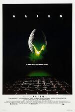 "ALIEN Silk Fabric Movie Poster New 24""x36"" Sci Fi Horror Predator"