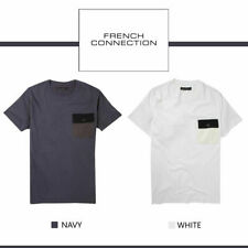 French Connection FCUK Mens Two Toned Contrast Reconnaissance Pocket T-Shirt