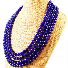 880.00 Cts Natural 4 Line Purple Amethyst Round Shape Beads Necklace NK 47E125