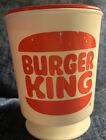 Vintage Burger King Small Plastic Mug With Red Lid