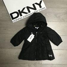 BNWT Gorgeous DKNY Baby Girls coat 9m RRP €99 Shiny Black 100% Genuine
