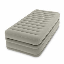 Intex Inflatable Prime Comfort Elevated Twin Airbed with Built-In Pump | 64443E