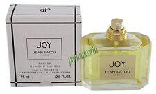 JEAN PATOU JOY TSTR 2.5 OZ EDT SPRAY FOR WOMEN BY JEAN PATOU NEW IN TSTR BOX