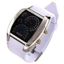 Montre-bracelet a LED Tableau de bord automobile blanc F6W6