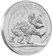 2016-P Australia 1 Kilo (32.15oz) .999 Silver Koala $30 Coin Perth Mint BU