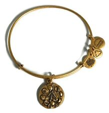 Authentic Alex and Ani Willow Charm Bangle Rafaelian Gold Bangle Bracelet