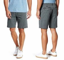 FAHERTY Stargazer Herringbone Cotton Shorts in Charcoal Sz.32 NWT