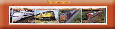 Congo 2017 MNH American Trains of America 4v M/S Railways Rail Stamps