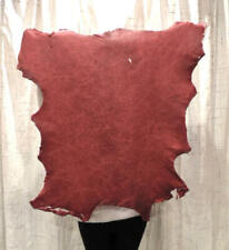 Waxy Blood Red Full Grain Leather Hide for Native Craft Buckskin Journals