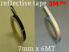 3M™ 580 scotchlite reflective vinyl tape stripe black color 7mm x 6MT(20 FEETS))