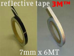 3M™ 580 scotchlite reflective vinyl tape stripe black color 7mm x 6MT (20 feets)