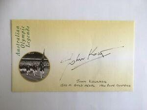 JOHN KONRADS 1960 ROME GOLD MEDALIST AUTOGRAPHED OLYMPIC   LEGENDS ENVELOPE