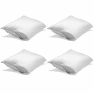 4 Pack Zip On Allergy Free Stain Resistant Standard Pillow Protector Wash