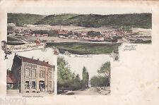 AK Wennigsen. Geschäftshaus. Panorama. Allee um 1901 nach Flatow Ostpreussen.