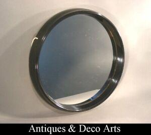 Vintage 1950-60s Circular Plastic Wall Mirror Diam. 30cm