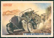 Militari 12º Centro Automobilistico Palermo Boccasile FG cartolina XF7288