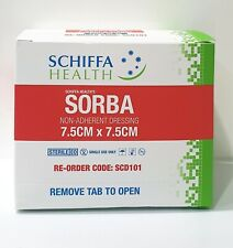 50 x SORBA HIGHLY ABSORBENT STERILE NON ADHERENT WOUND DRESSING 7.5CM x 7.5CM