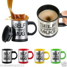 Self Stirring Mug with Lid for Coffee Tea Juices Shakes