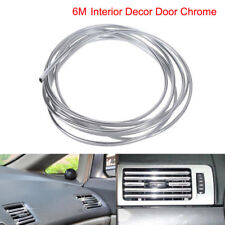 6M DIY Car Interior Decor Door Chrome Moulding Edge air vents car door u shaped