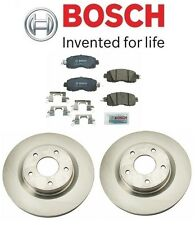 2 Brembo Rotors Front Brakes Disc Rotor BOSCH Brake Pad Set for Nissan Altima