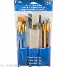 Loew Cornell Brushes Painting Brush Set Acrylic Paint Brushes 25Pcs Art Supplies