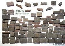 1:18 Scale Stone Road Pavers & Wall Blocks Diorama Model Accessories Display Set