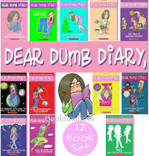 Complete Dear Dumb Diary 1-12 (pb) by Jim Benton 12 Book Set NEW