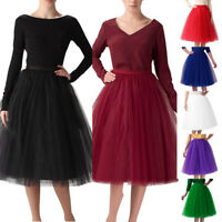 Womens High Quality Pleated Gauze Knee Length Skirt Adult Tutu Dancing Skirt HOT