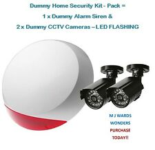 Dummy Home Security Kit - Pack = 1 x Dummy Alarm Siren & 2 x Dummy CCTV Cameras