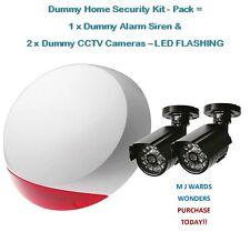 Maniquí Home Kit De Seguridad-Pack = 1 X Falsa Alarma Sirena & 2 X Dummy Cctv Cámaras