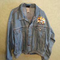 Vintage Garment Graphics Activewear Jean Jacket XL Looney Tunes Warner Bros