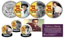 ELVIS PRESLEY Love Me Tender Songs JFK Half Dollar US 3-Coin Set  LICENSED Color