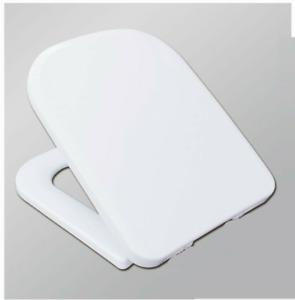 1 x Square Toilet Seat Heavy Duty White Soft Close Top Quick Release