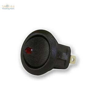 10 X Rocker Switch 1polig Illuminated Red, 230V/6A, Rocker Switch, Switch Seesaw