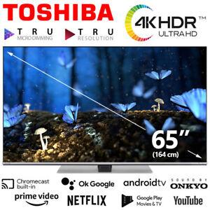 Toshiba TV 65 Zoll Fernseher Smart HDR 4K HD Dolby UHD Android Netflix Prime NEU