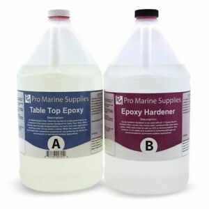 Pro Marine Supplies CCER- 2- Crystal Clear Bar Table Top Epoxy Kit
