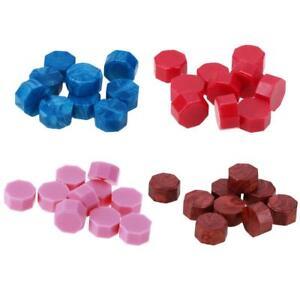 100pcs Octagon Sealing Wax Beads DIY Wedding Stamping Envelope Decor Wax Seal