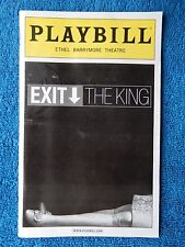 Exit The King - Ethel Barrymore Playbill - May 2009 - Geoffrey Rush - Sarandon