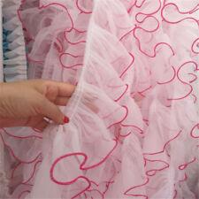 2 Yards DIY Craft Ruffle Lace Edge Trim Organza Pleated Ribbon Fabric Sewing Hem