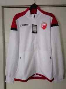 FC Red Star Crvena Zvezda Macron XL SIZE - travel Sweatshirt NEW