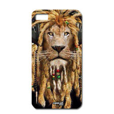 CUSTODIA COVER CASE LEONE RASTA LION MUSIC PER CELLULARE iPHONE 6 4.7""