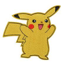"POKEMON GO SMILING PIKACHU PATCH EMBROIDERIED IRON/SEW ON APPLIQUE 2.7""X3.1"""