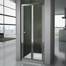 Bathroom Shower Enclosure Chrome Bifold Door Walk In Glass Cubicle Screen 800mm