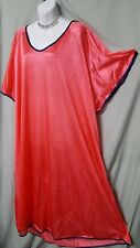"Comfort Choice ABOVE ANKLE SEXY COMFY CORAL PINK NIGHTGOWN SIZE 4X GIFT 74"" BUST"