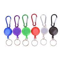 Multicolor badge reel retractable keychain keyring key chain steel cord Nj