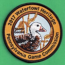Pa Pennsylvania Game Commission Waterfowl Heritage Series 2017 Snow Goose Patch