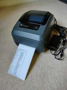 Zebra GK420t Label Thermal Printer used + free 450 labels roll