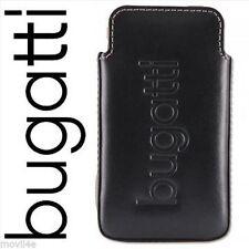 Funda Original Bugatti para HTC Desire HD y HTC HD7 cuero negra